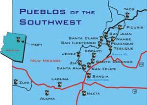 Pueblos in New Mexico Map