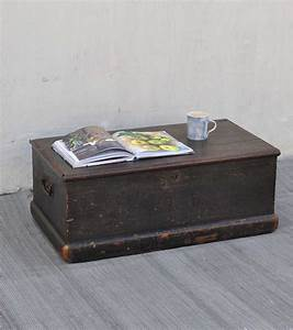 antique black small pine blanket box linen chest coffee With small chest coffee table