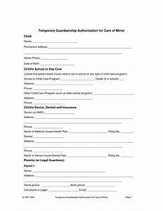 Best s of Temporary Guardianship Form For Minor