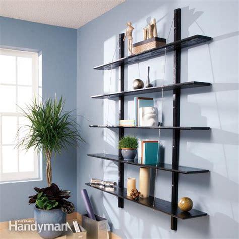 build suspended bookshelves