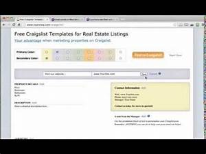 free craigslist templates for real estate listings youtube With craigslist real estate template