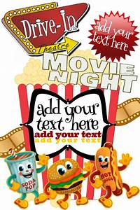 Hierarchy Template Drive In Popcorn Movie 1950 39 S Theme Community Kids