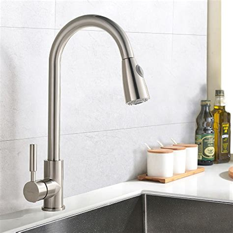 best kitchen faucet with sprayer best commercial stainless steel single handle pull