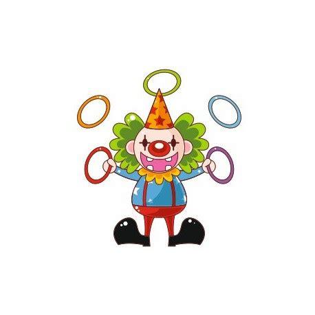 sticker clown jongleur cirque chambre enfant etiquette