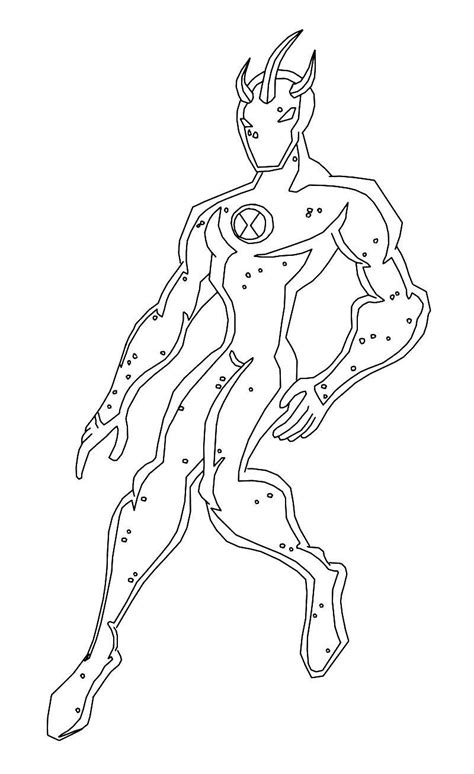 ben  alien force coloring pages swampfire coloring home