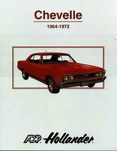 Chevelle Parts Interchange Manual Hollander Book Elcamino