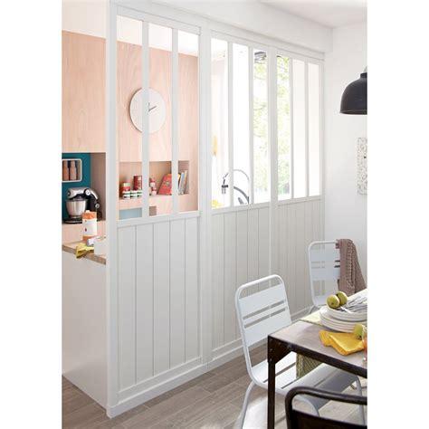 cloison vitree cuisine cloison amovible atelier blanc h 240 x l 80 cm leroy merlin