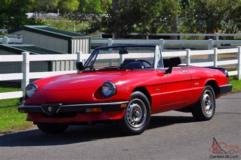 1986 Alfa Romeo Graduate Spider