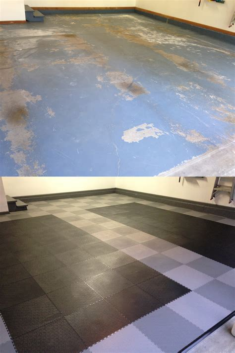 before and after truelock pvc garage flooring llc
