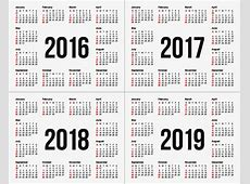 Calendario 2017 2018 2019 PNG y Vector para Descargar Gratis