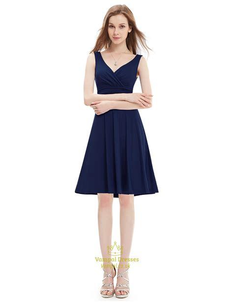 Stunning Grape V-Neck Sleeveless Knee Length Summer ...