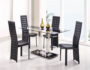 Fascinating dining room sets for sale modern glass top for Dining room sets with glass table tops