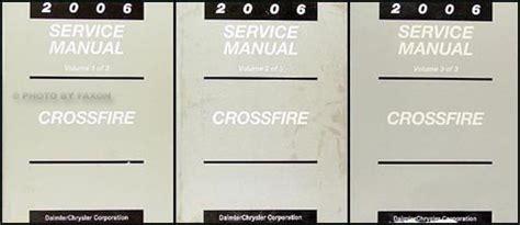 vehicle repair manual 2005 chrysler crossfire auto manual 2006 chrysler crossfire repair shop manual set original