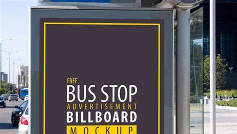 bus stop advertisement billboard psd mockup css author