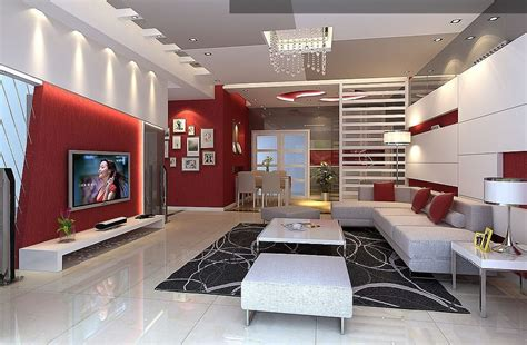 salon et blanc design et moderne d
