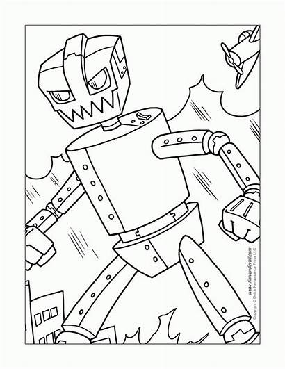 Robot Coloring Pages Steel Robots Printable Lego