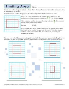 Pics For > Area Worksheet 3rd Grade