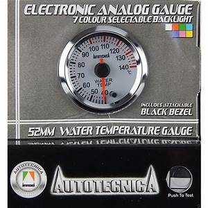 Autotecnica Water Temperature White Face Electronic