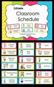 editable classroom schedule With preschool classroom schedule template