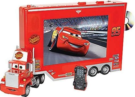 Pixar Cars Tv/dvd With Lightning Mcqueen Remote