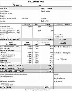Exemple Bulletin De Paie Avec Indemnité De Licenciement : modele fiche de paie 2016 document online ~ Maxctalentgroup.com Avis de Voitures