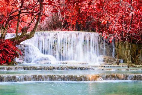 De Kuang Si watervallen bij Luang Prabang - Backpacken in Azie