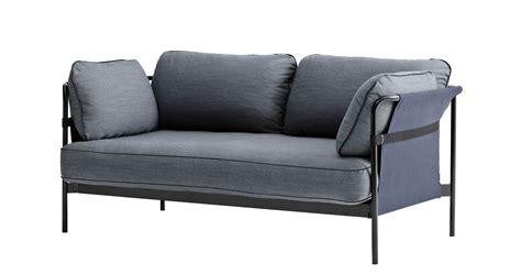 canapé 120 cm can sofa 2 seaters l 172 cm grey blue black