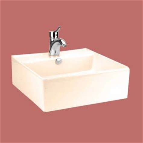 Bone Colored Bathroom Sinks by Above Counter Bathroom Vessel Square Bone China
