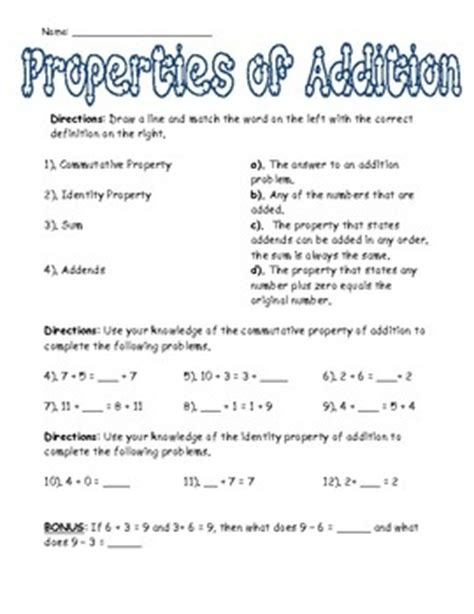 11 Best Properties Of Addition Images On Pinterest  Properties Of Addition, Teaching Math And