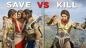 Save vs Kill Kassandra (Good and Bad Ending for Alexios ...