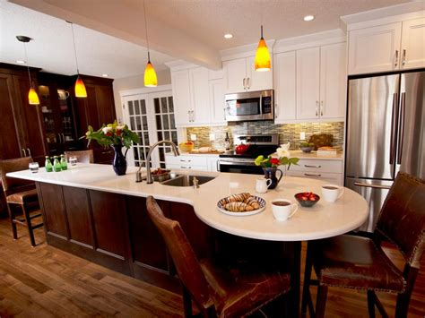 kitchen island with built in table 20 ready kitchens hgtv 9425