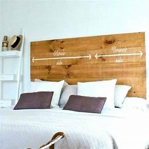 Faire Une Tête De Lit En Bois : tete de lit original tete de lit original a faire soi meme ~ Melissatoandfro.com Idées de Décoration