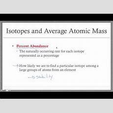 Average Atomic Mass Youtube