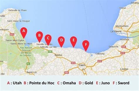 Carte De Plage Normandie by Carte Des Plages Du D 233 Barquement De Normandie Les