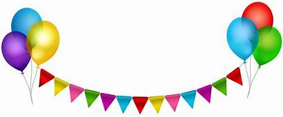 Party Transparent Clipart Clip Balloons Streamer Streamers