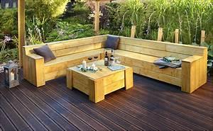 Möbel Für Terrasse : gartenlounge selber bauen anleitung von hornbach ~ Michelbontemps.com Haus und Dekorationen