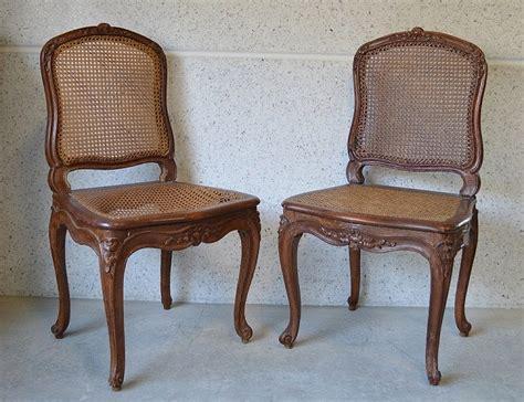 chaises cannées louis cresson paire de chaises cannées estil