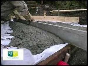 Comment Faire Une Terrasse Beton : faire dalle b ton make a concrete slab youtube ~ Voncanada.com Idées de Décoration