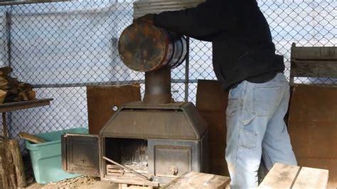 homemade baffled heat exchanger   wood stove youtube