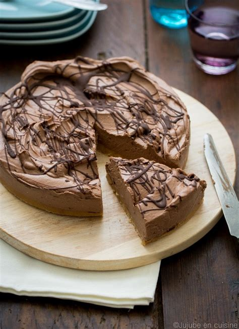 jujube en cuisine cheesecake au chocolat noir très crémeux sans cuisson