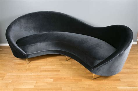 canapé italien sofa 1970s curved canape at 1stdibs