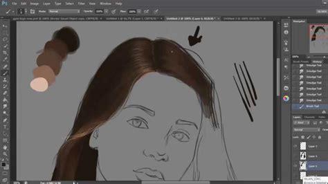 draw hair  photoshop basic steps youtube
