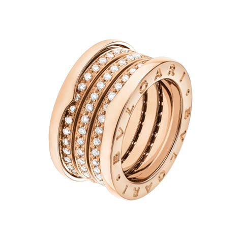 bulgari bzero1 bulgari b zero1 18k gold 4 band ring with pave