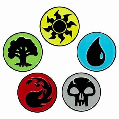Magic Gathering Mana Lapel Enamel Badge Badges