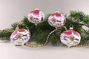 Weihnachtskugeln Glas Lauscha : 4 zwiebeln mit landschaft rot onlineshop f r ~ A.2002-acura-tl-radio.info Haus und Dekorationen