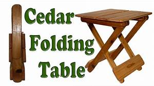 DIY Woodworking How To Make A Folding Table - YouTube