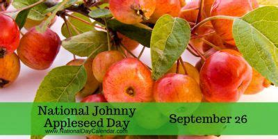 NATIONAL JOHNNY APPLESEED DAY - September 26 | Apple seeds ...