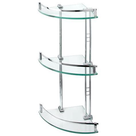 engel tempered glass corner shelf  shelves bathroom