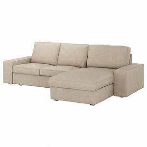 Kivik 3 seat sofa with chaise longue hillared beige ikea for Sectional sofa seats 10