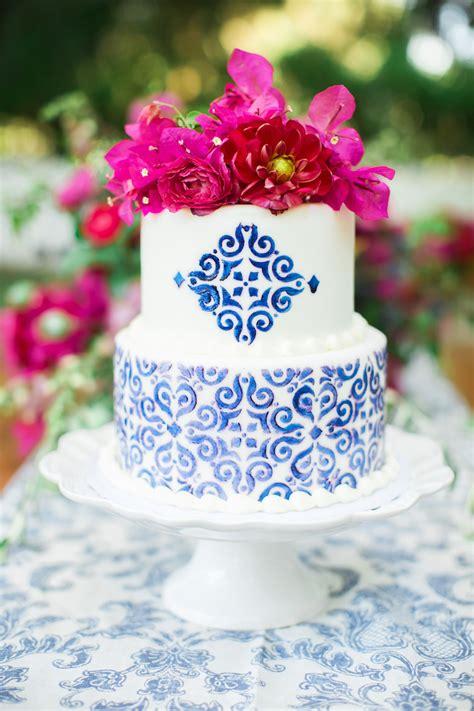 Vibrantly Beautiful Bougainvillea + Blue Spanish Wedding Ideas